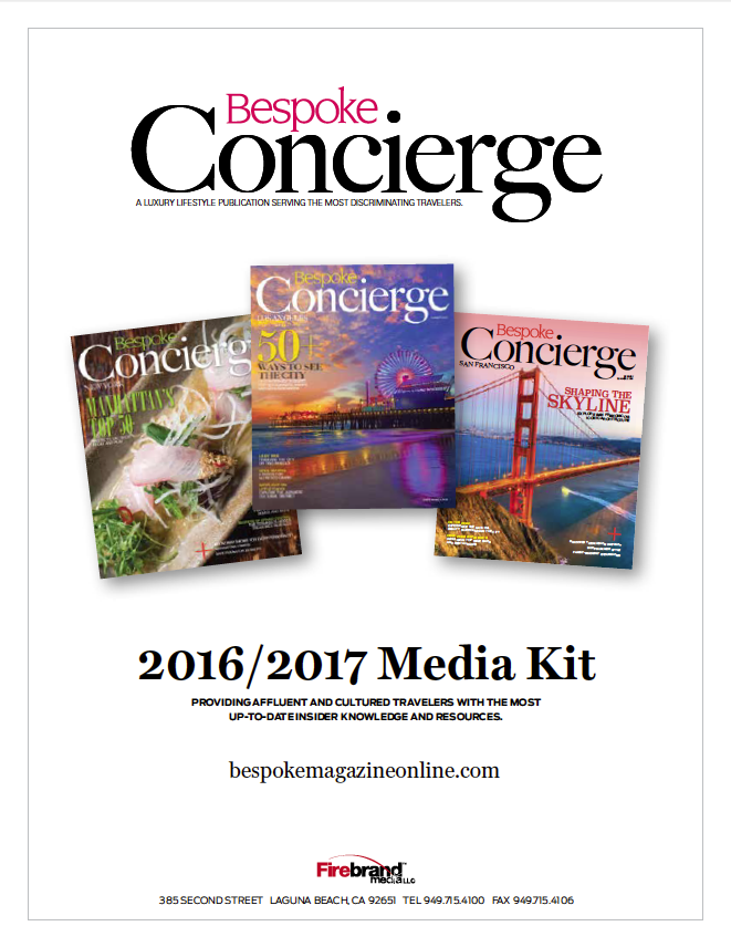 2016-2017 Bespoke Concierge Media Kit - cover