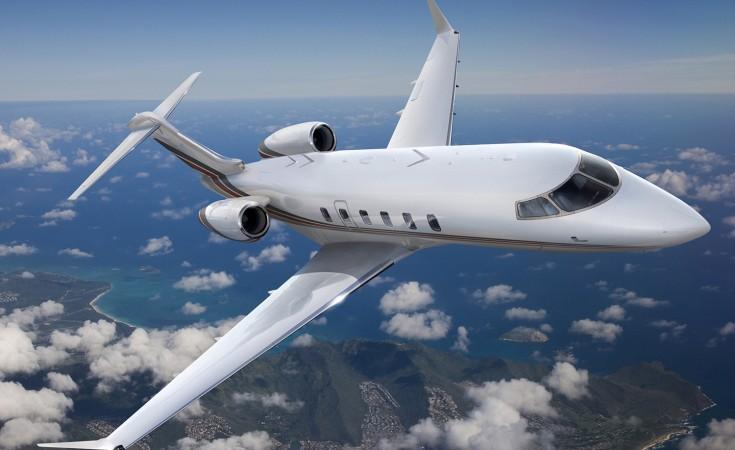 Bombardier Challenger 350_Netjets Signature Series_In flight featured