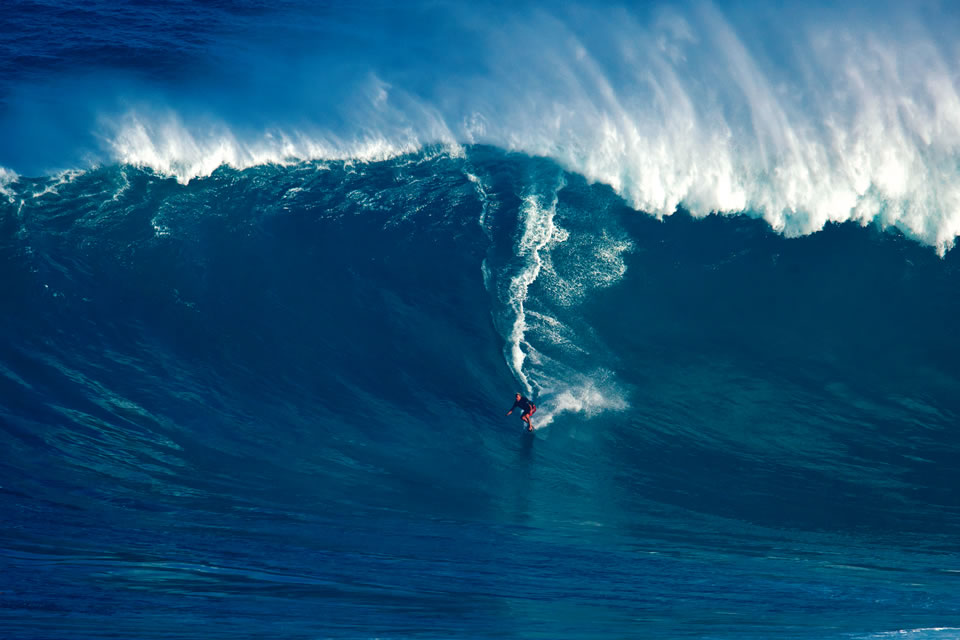 Laird Hamilton surfing in Maui, Hawaii. (Photo by Erick Stock Media/Shutterstock)
