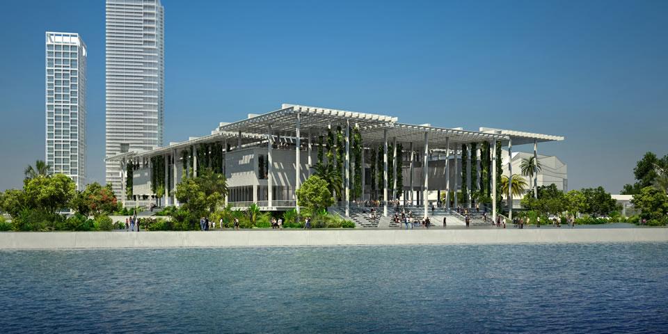 Pérez Art Museum Miami (bay view), opening December 2013 © Herzog & de Meuron