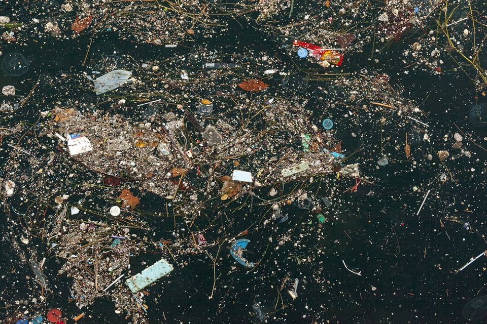 Exhibiting artists explore the issue of plastic pollution in the ocean. (Courtesy of Koraysa/Shutterstock.com)