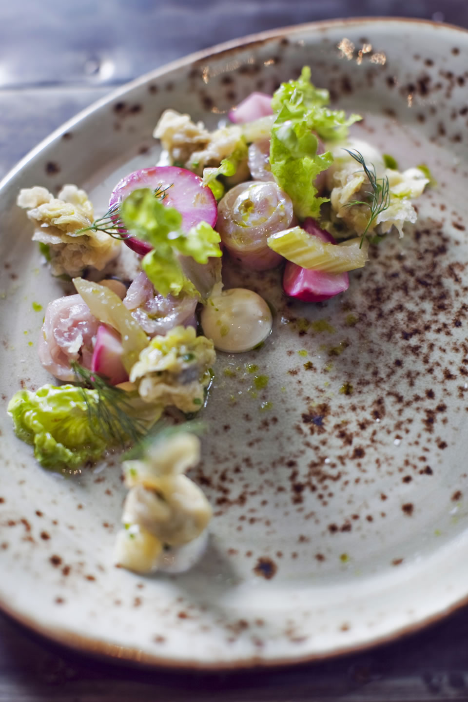 Raw Mackerel & Fried Oysters 4