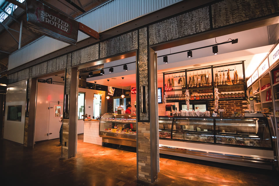 The Spotted Trotter is a butcher shop at Krog Street Market. (Photo by Barry Cantrell)