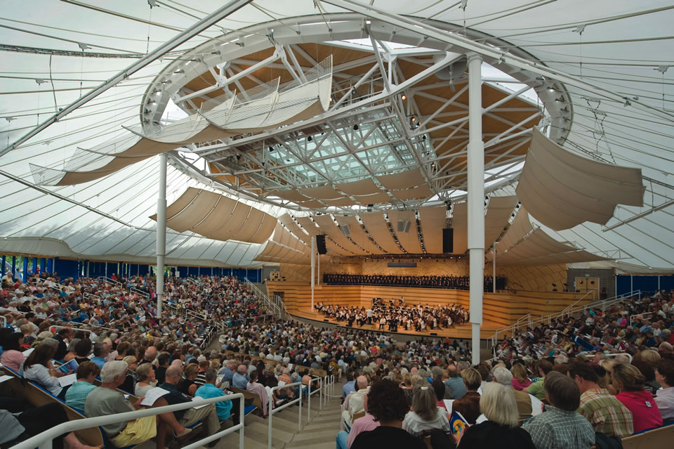 Many AMFS concerts take place in the 2,050-seat Benedict Music Tent. (Photo by Alex Irvin)