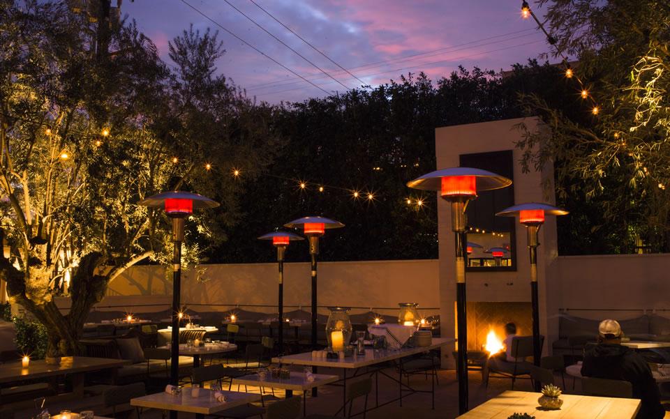 gracias_madre- patio at night