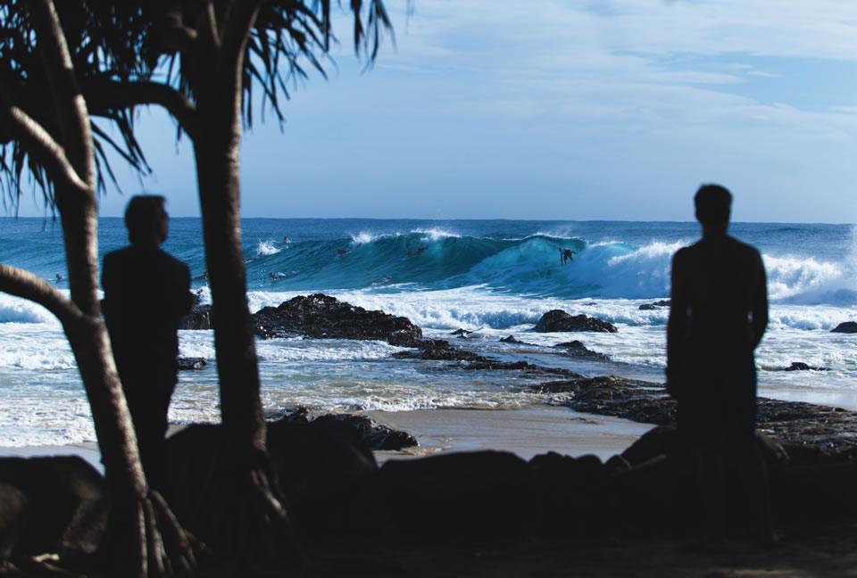 Snapper Rocks on the Gold Coast of Australia is a go-to surf destination. (Photo by zstock/Shutterstock)