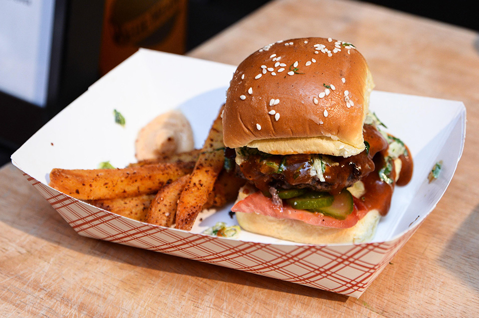 A signature event of the festival, the Blue Moon Burger Bash will feature inventive takes on the classic burger. (Courtesy of Billy Farrell Agency)