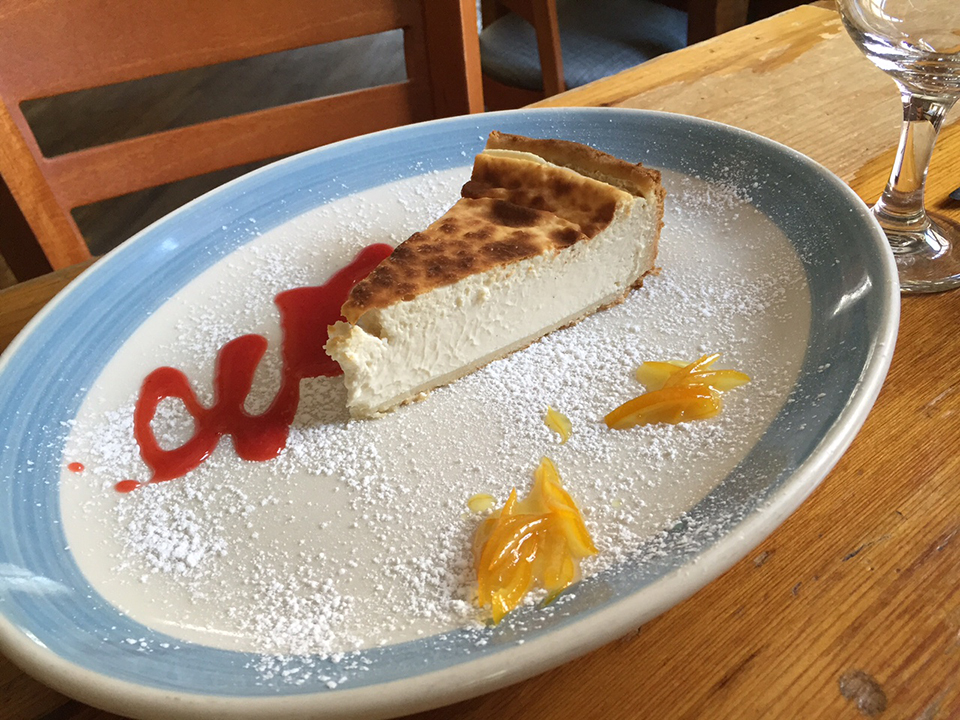 Pepolino's cheesecake