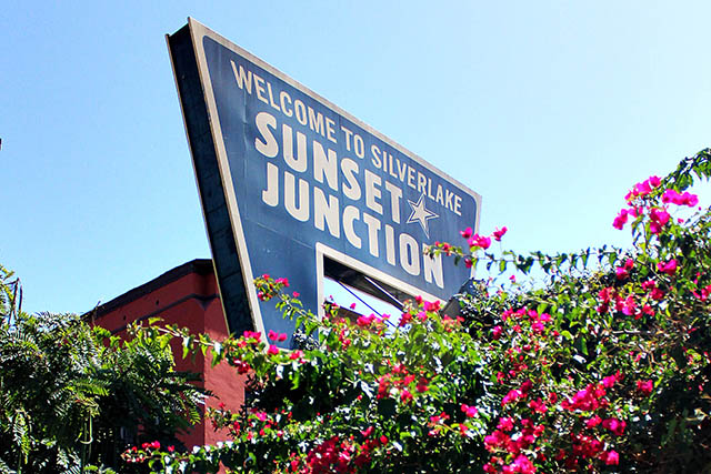The famed Sunset Junction sign in Silver Lake | Photo by Tatiana Ernst