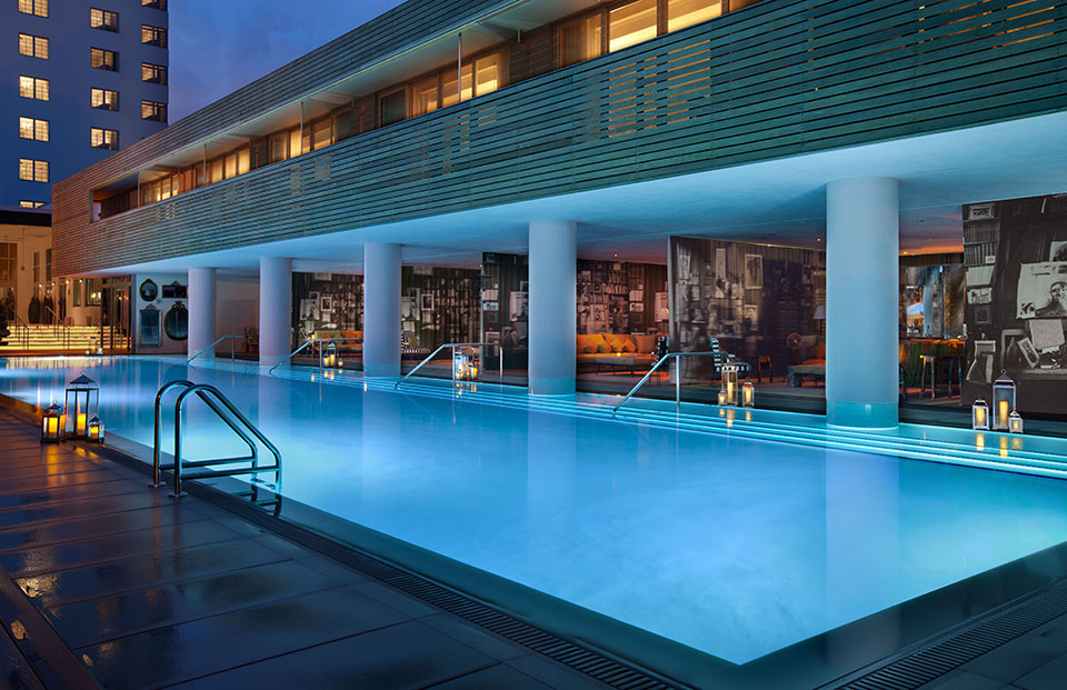 The guest pool at SLS South Beach (Courtesy of SLS South Beach)