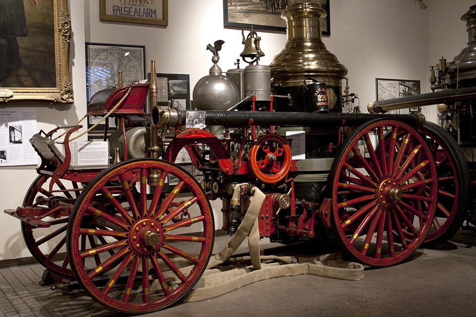 A Brooklyn steamer in the New York City Fire Museum.