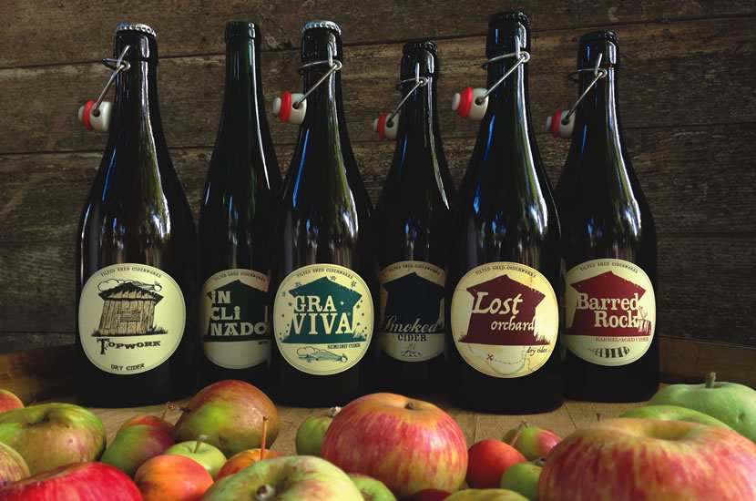 A selection of cider